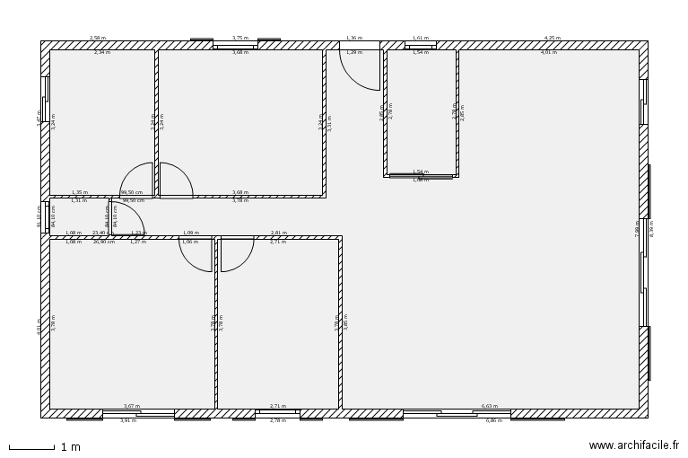 Floor plan free software archifacile for 100m2 floor plan