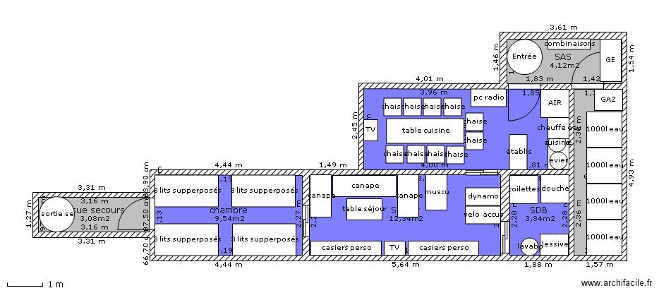 Floor plan free software archifacile - Construction abri anti atomique ...