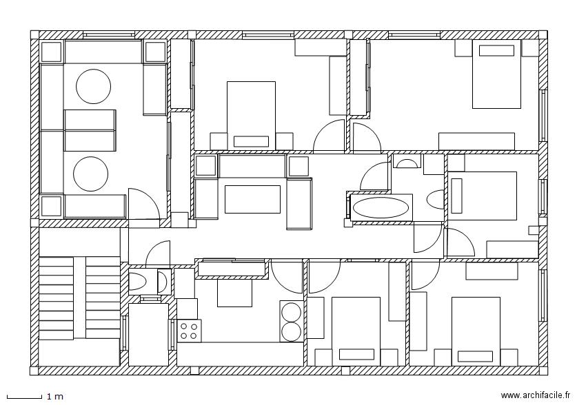 Floor plan free software archifacile - Plan d une maison marocaine ...